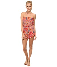 Billabong Aloha Yo Desert Bloom Romper Rio Red Women's Jumpsuit And Rompers One Piece