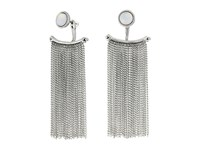 Lucky Brand Fringe Ear Jacket Earrings Silver Earring