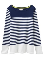 Joules Harbour Colour Block Stripe Jersey Top French Navy Block