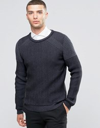 Sisley Ribbed Jumper With Contrast Panels Grey 901