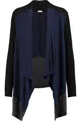 Splendid Color Block Jersey Cardigan Blue