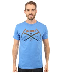Marmot Ascend Short Sleeve Tee Royal Heather Men's T Shirt Blue