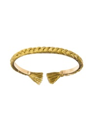 Aurelie Bidermann Copacabana Olivine Cotton Thin Bangle Olive