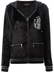 Roberto Cavalli Embroidered Logo Hoodie Black