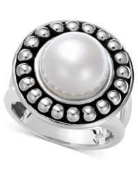 Honora Style Pearl Cultured Freshwater Pearl Ring In Sterling Silver 10 1 2Mm