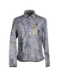 Blauer Shirts Shirts Men Grey