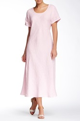 Insight Linen Maxi Tee Dress Pink