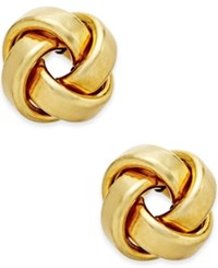 Macy's Love Knot Stud Earrings In 14K Gold