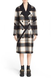 Burberry Women's Prorsum Tartan Plaid Wool Coat