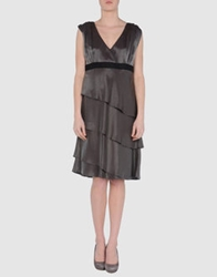 Roberta Furlanetto Short Dresses Dark Brown
