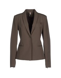Scee By Twin Set Suits And Jackets Blazers Women Military Green