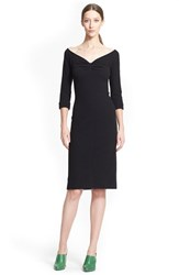 Women's Nina Ricci Ballet Neck Wool And Cashmere Dress Black