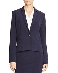T Tahari Carina Notch Lapel Blazer Navy