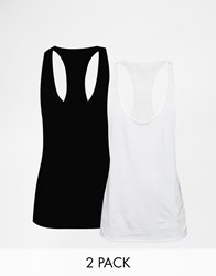 Asos Loungewear 2 Pack Vest With Extreme Racer Back Save 17 Multi