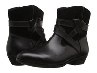 Softwalk Roper Black Smooth Leather Cow Suede Women's Boots