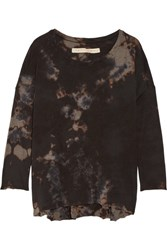 Raquel Allegra Tie Dyed Cotton Blend Jersey Top Black