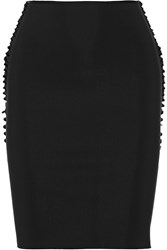 Dion Lee Cutout Tech Jersey Pencil Skirt Black