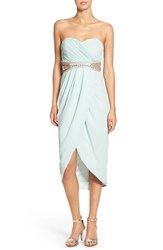 Tfnc Women's 'Catalina' Embellished Strapless Midi Dress Mint
