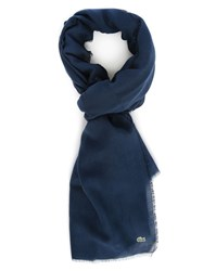 Lacoste Navy Cotton Scarf