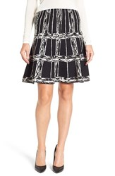 Nic Zoe Women's 'Windowpane' Knit Twirl Skirt