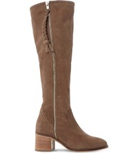 Steve Madden Lasso Suede Knee High Boots Taupe Suede