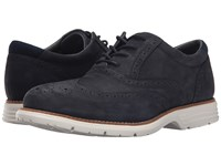 Rockport Total Motion Fusion Wing Tip New Dress Blues Men's Lace Up Wing Tip Shoes