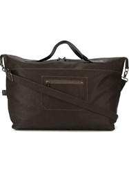 Ally Capellino 'Arron Canvas' Large Tote Holdall Brown