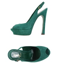 Yves Saint Laurent Sandals Green