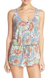 Women's Blush By Profile Racerback Cover Up Romper
