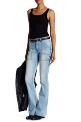 Blanknyc Denim High Rise Cosmic Flare Jean Blue