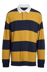 Alexander Wang Men's T By Engineered Stripe Oversize Rugby Shirt