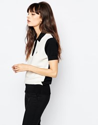 Fred Perry Knit Polo Shirt Ecru