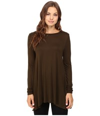 Culture Phit Fara Long Sleeve Top Olive Women's Sweater