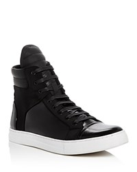 Kenneth Cole Double Header High Top Sneakers Black