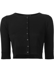 Cividini Cropped Cardigan Black