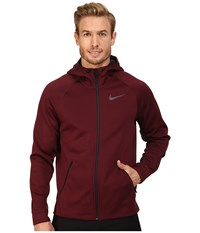 Nike Therma Sphere Training Hoodie Night Maroon Black Black Men's Coat Red