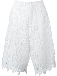 No21 Lace Knee Length Shorts White