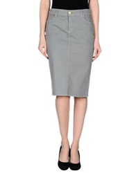Marani Jeans Knee Length Skirts Grey