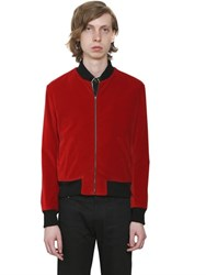 Saint Laurent Studded Music Notes Velvet Bomber Jacket