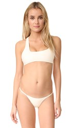 Mikoh Queensland Cross Shoulder Bikini Top Bone