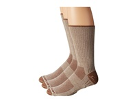 Wrightsock Adventure Crew 3 Pack Khaki Crew Cut Socks Shoes