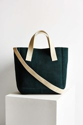 Bdg Suede Canvas Handle Tote Green