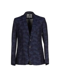 Macchia J Suits And Jackets Blazers Men Dark Blue