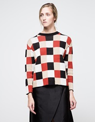Checkerboard Sweater Multi