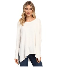 Culture Phit Jovana Long Sleeve Waffle Top Ivory Women's Clothing White