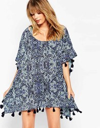 All About Eve Wishful Paisley Beach Kaftan Multi