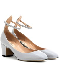 Valentino Tango Patent Leather Pumps Grey