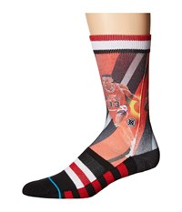 Stance Pippen Trading Card Black Red Men's Crew Cut Socks Shoes