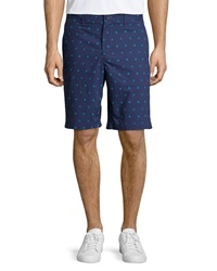 Penguin Cotton Sailor Print Chino Shorts Patriot Bl