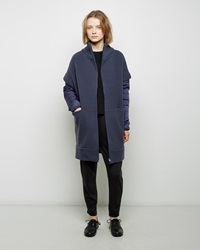 Tsumori Chisato Quilted Sleeve Wool Coat Blue